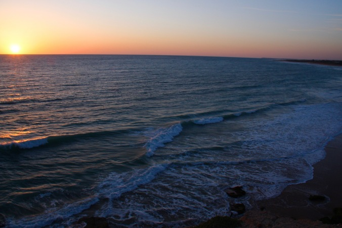 Sunset, Cape Trafalgar, Costa de la Luz, Andalusia, Spain
