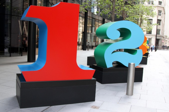 Number art, City of London, London