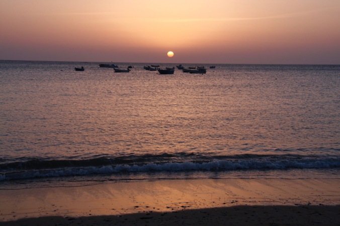 Sunset from La Caleta, Cadiz, Andalusia, Spain