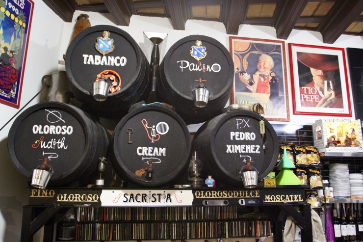 Sherry barrels, Tabanco, Jerez de la Frontera, Spain