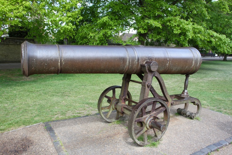 Cannon on Palace Green, Ely, Cambridgeshire