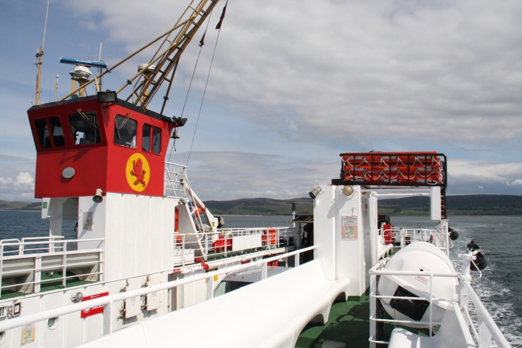 Ferry to Isle of Gigha, Scotland