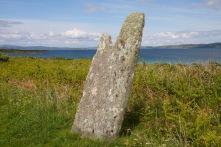 Carragh an Tarbert standing stone, Isle of Gigha, Scotland