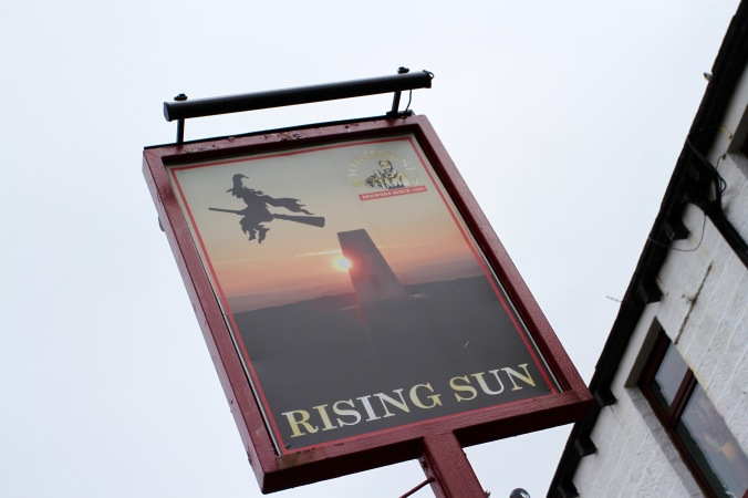 Pub sign, Barrowford, Pendle, Lancashire