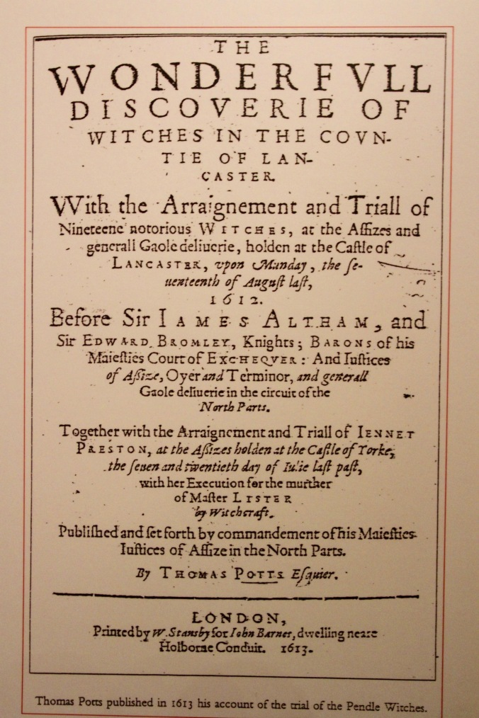 Contemporary report of Pendle Witch trials, Lancashire