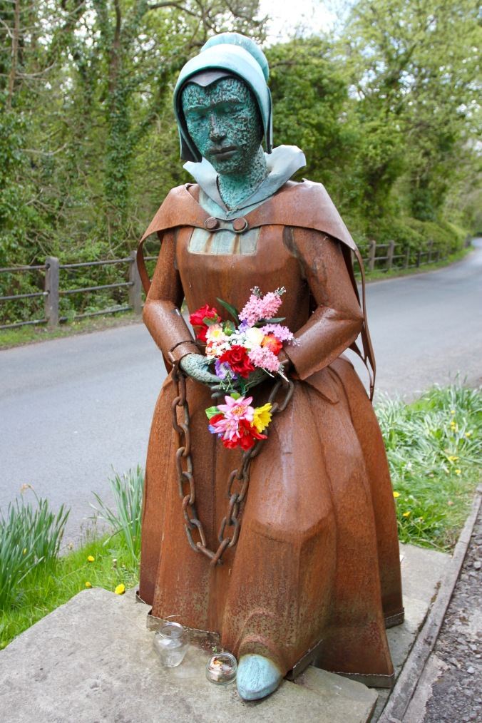 Alice Nutter statue, Roughlee, Pendle, Lancashire
