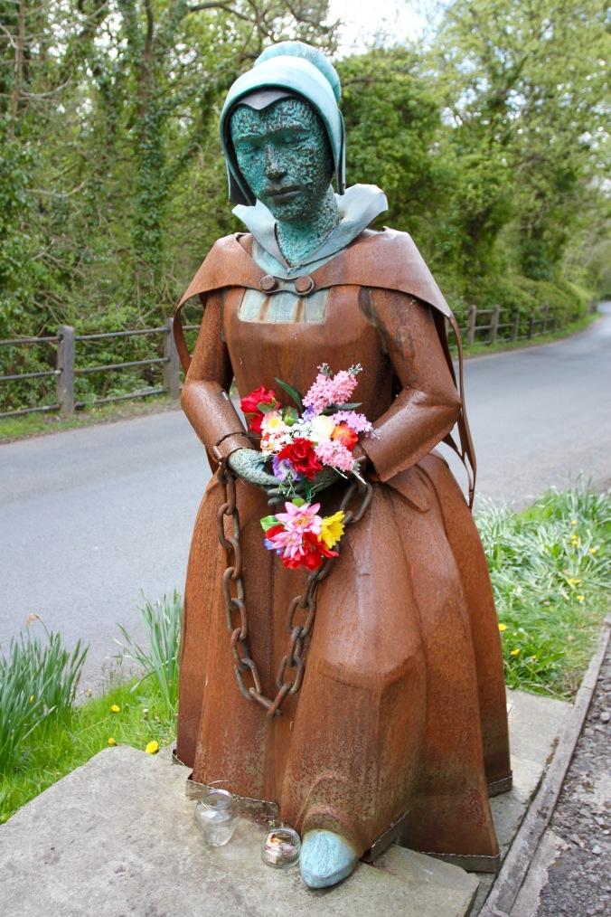 Alice Nutter statue, Roughlee, Pendle, Lancashire