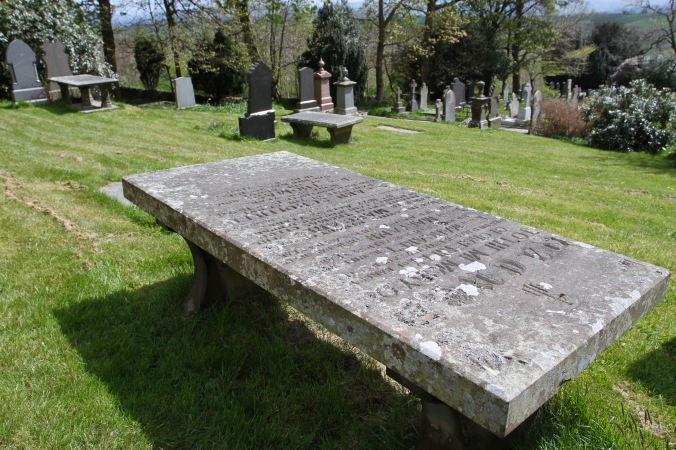 Graveyard in St. Mary's Church, Newchurch, Pendle, Lancashire