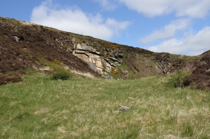 Faugh's Quarry where the Devil appeared, Pendle, Lancashire