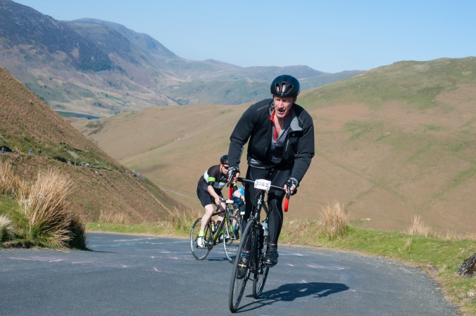 A camelid on Newlands Pass, Fred Whitton Challenge © Steve Fleming 2017