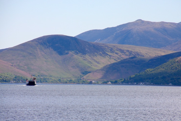 Isle of Arran seen from Claonaig, Scotland