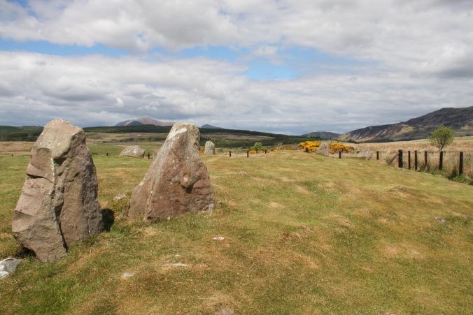 Stone circles and standing stones, Machrie Moor, Isle of Arran, Scotland
