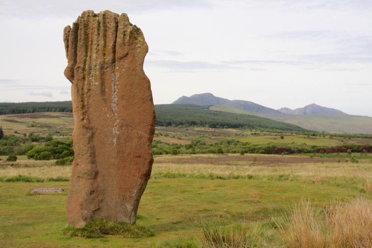 Stone circles and standing stones, Machrie Moor, Isle of Arran, Scotland