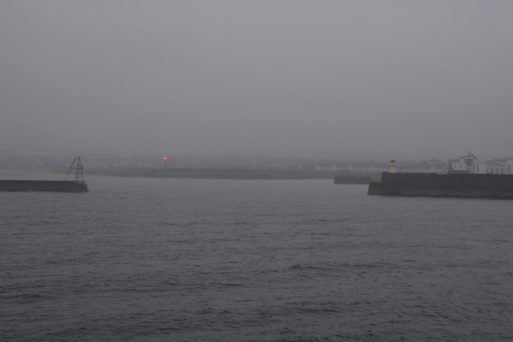 Arriving in Ardrossan Harbour, Scotland