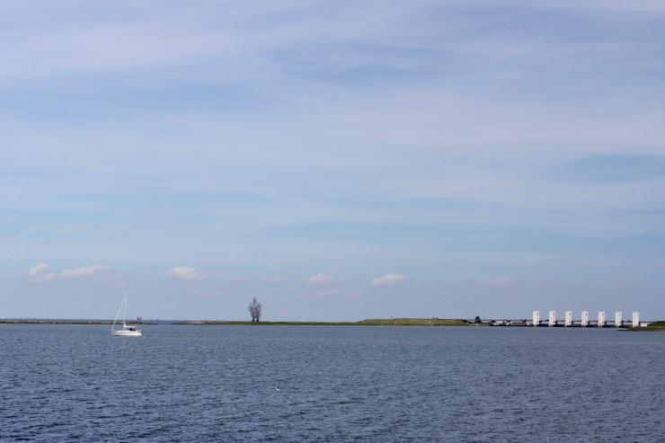 Boats on the Markermeer, Lelystad, Netherlands