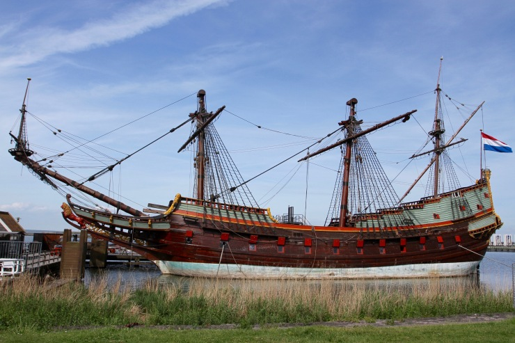 Replica 17th century Dutch Ship, Markermeer, Lelystad, Netherlands