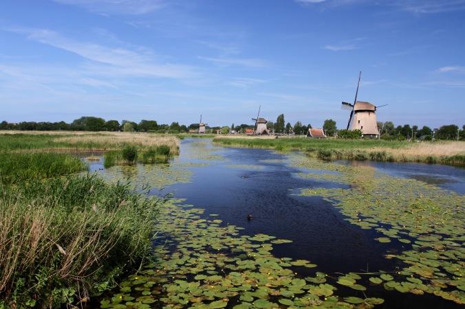 Windmills near Broek op Langedijk, Netherlands
