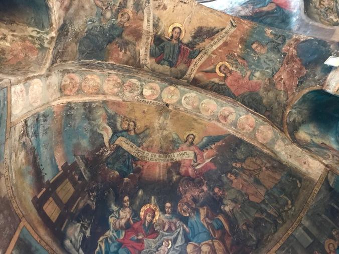 Frescoes in Krusedol Monastery, Fruska Gora National Park, Serbia