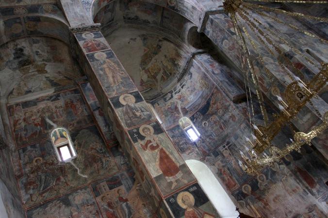 Frescoes in Novo Hopovo Monastery, Fruska Gora National Park, Serbia