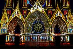 Son et lumière, Cathedral Notre-Dame de Reims, France