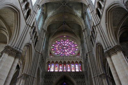 Rose window, Cathedral Notre-Dame de Reims, France