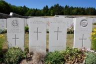 War cemetery, Courmas, Montagne de Reims, Champagne, France