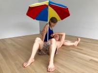 Ron Mueck's Couple under an umbrella, Voorlinden Museum, Netherlands