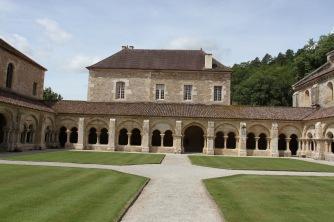 Cloister, Abbey de Fontenay, Burgundy, France