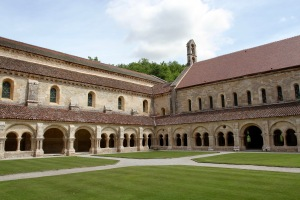 Cloister, Abbey de Fontenay, Burgundy, France