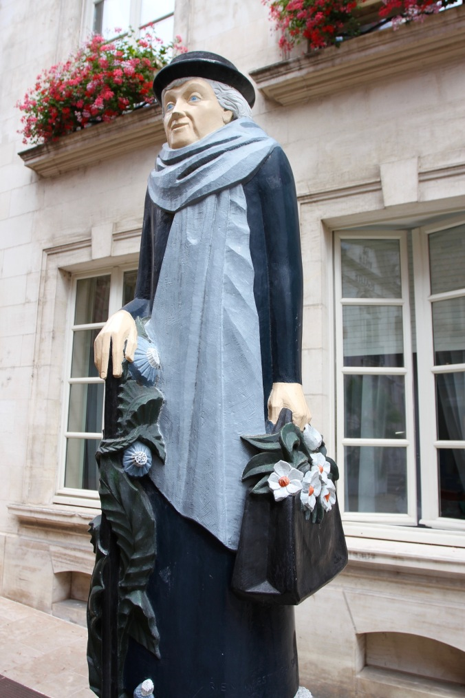 Statue to poet Marie Rouget, Auxerre, France
