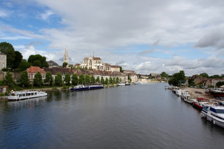 Abbey de Saint-Germain on the Yonne River, Auxerre, France