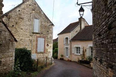 Village in Chablis region, Burgundy, France