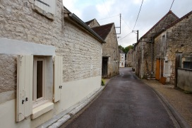 Village in Chablis region, Burgundy, France