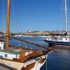 Boats moored on Djurgården, Stockholm, Sweden