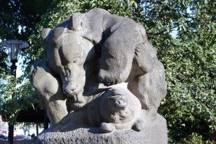Bear statue, Stockholm, Sweden