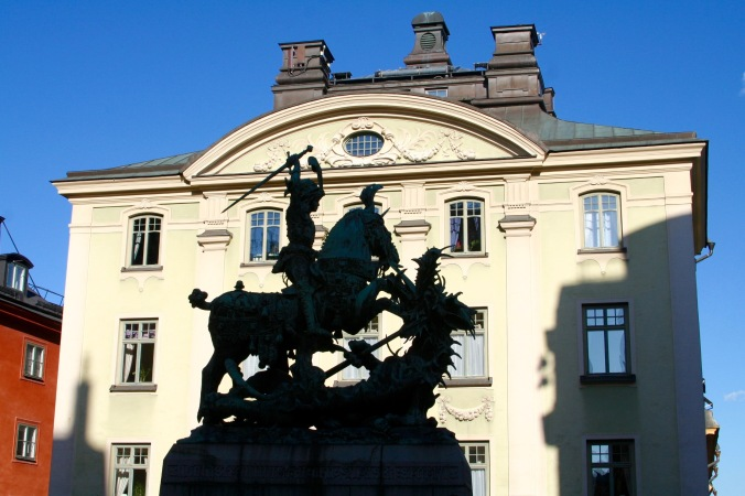 St. George and the dragon, Stockholm, Sweden