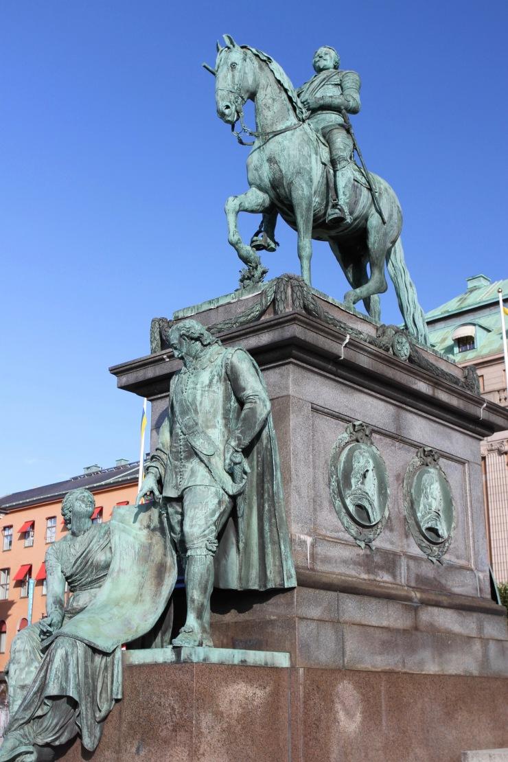 Statue of King Gustavus Adolphus, Stockholm, Sweden