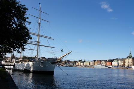 Gamala Stan viewed from Skeppsholmen, Stockholm, Sweden