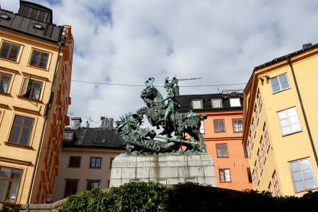 Statue of St. George, Gamala Stan, Stockholm, Sweden