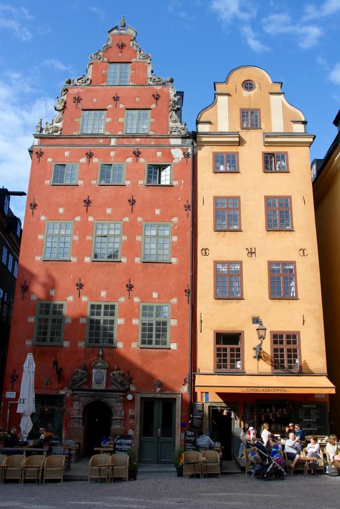 Buildings in the Stortorget, Gamla Stan, Stockholm, Sweden