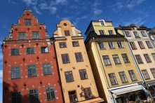 Buildings in the Stortorget, Gamala Stan, Stockholm, Sweden