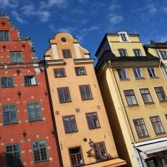 Buildings in the Stortorget, Gamala Stan, Stockholm, Sweden