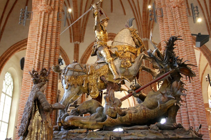 St. George and the dragon, Storkyrkan, Gamla Stan, Stockholm, Sweden