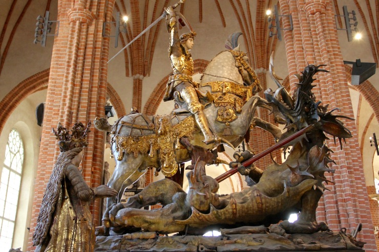 St. George and the dragon, Storkyrkan, Gamala Stan, Stockholm, Sweden