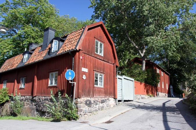 Traditional wooden houses, Stockholm, Sweden