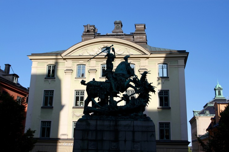 St. George and the dragon, Gamala Stan, Stockholm, Sweden