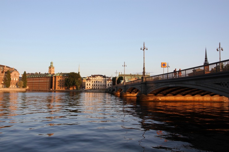 Gamala Stan at sunset, Stockholm, Sweden
