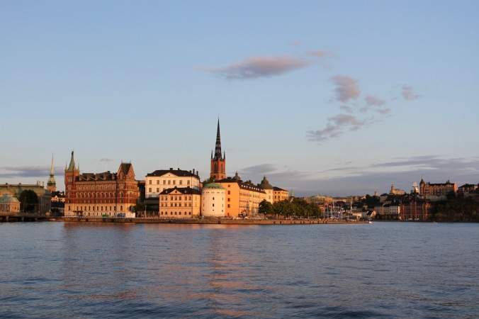 Gamla Stan at sunset from the Stadhus, Stockholm, Sweden