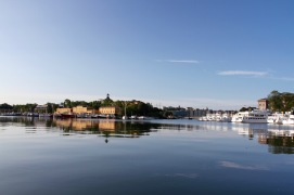 Skeppsholmen island from Djurgården, Stockholm, Sweden