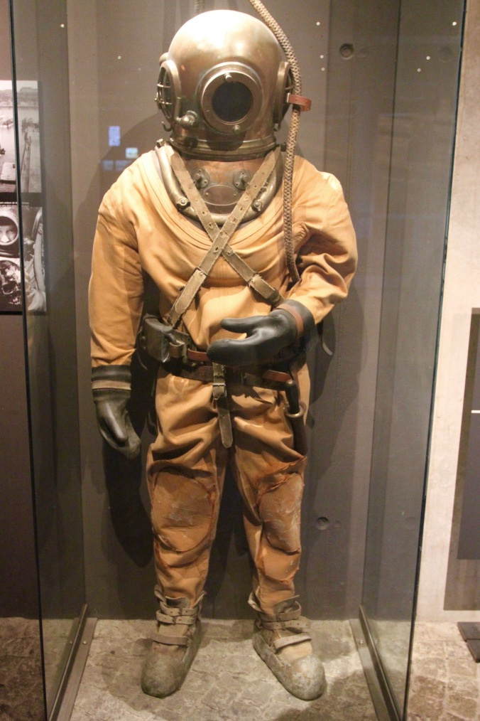 Diving suit, Vasamuseet, Stockholm, Sweden